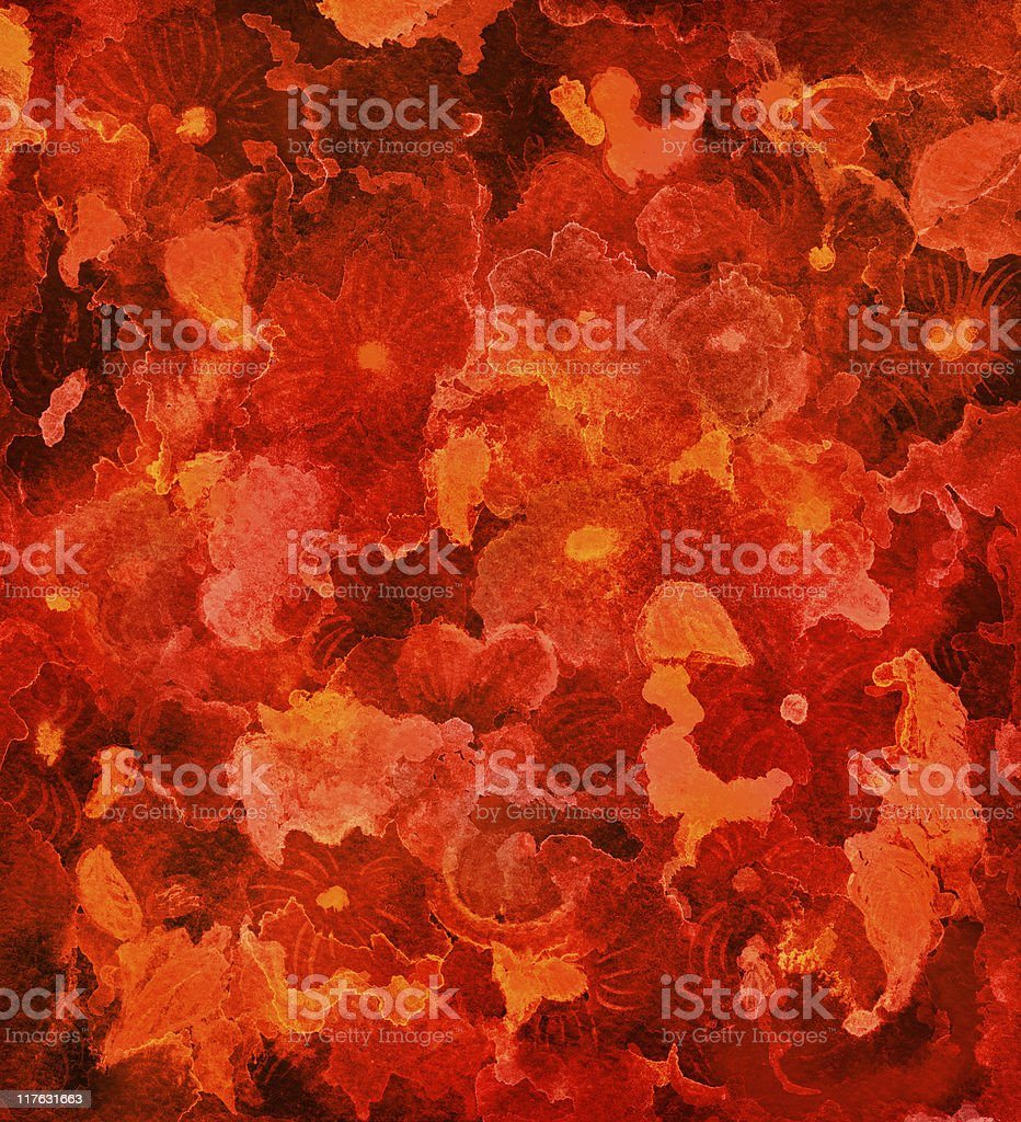 red flower background royalty-free stock vector art