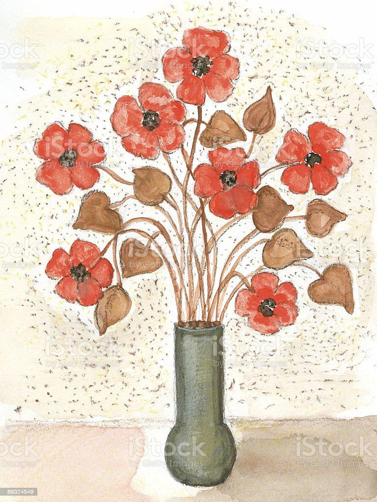 Rote Blumen XXL-Auflösung Lizenzfreies vektor illustration