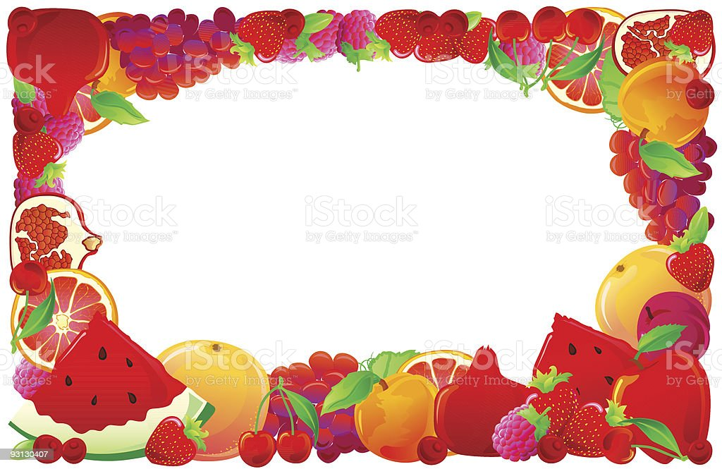 Red fruit frame royalty-free stock vector art