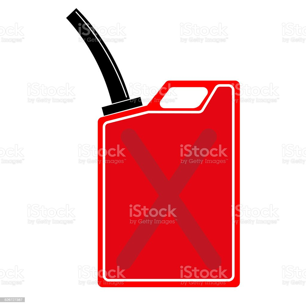 Red gas can vector art illustration