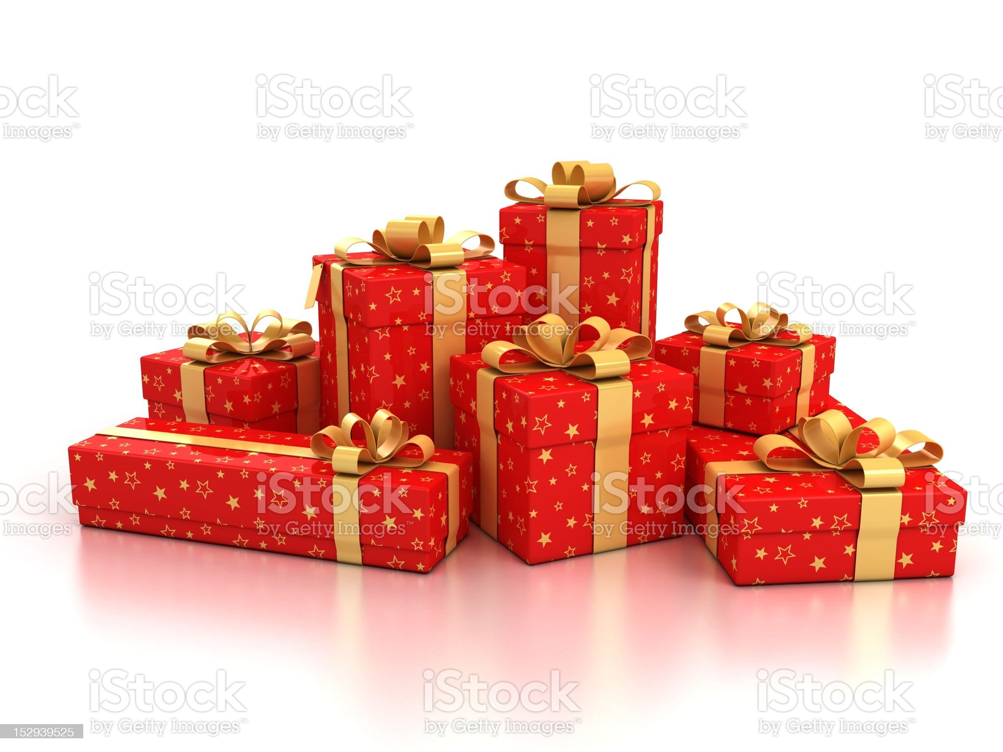 red gift boxes royalty-free stock vector art