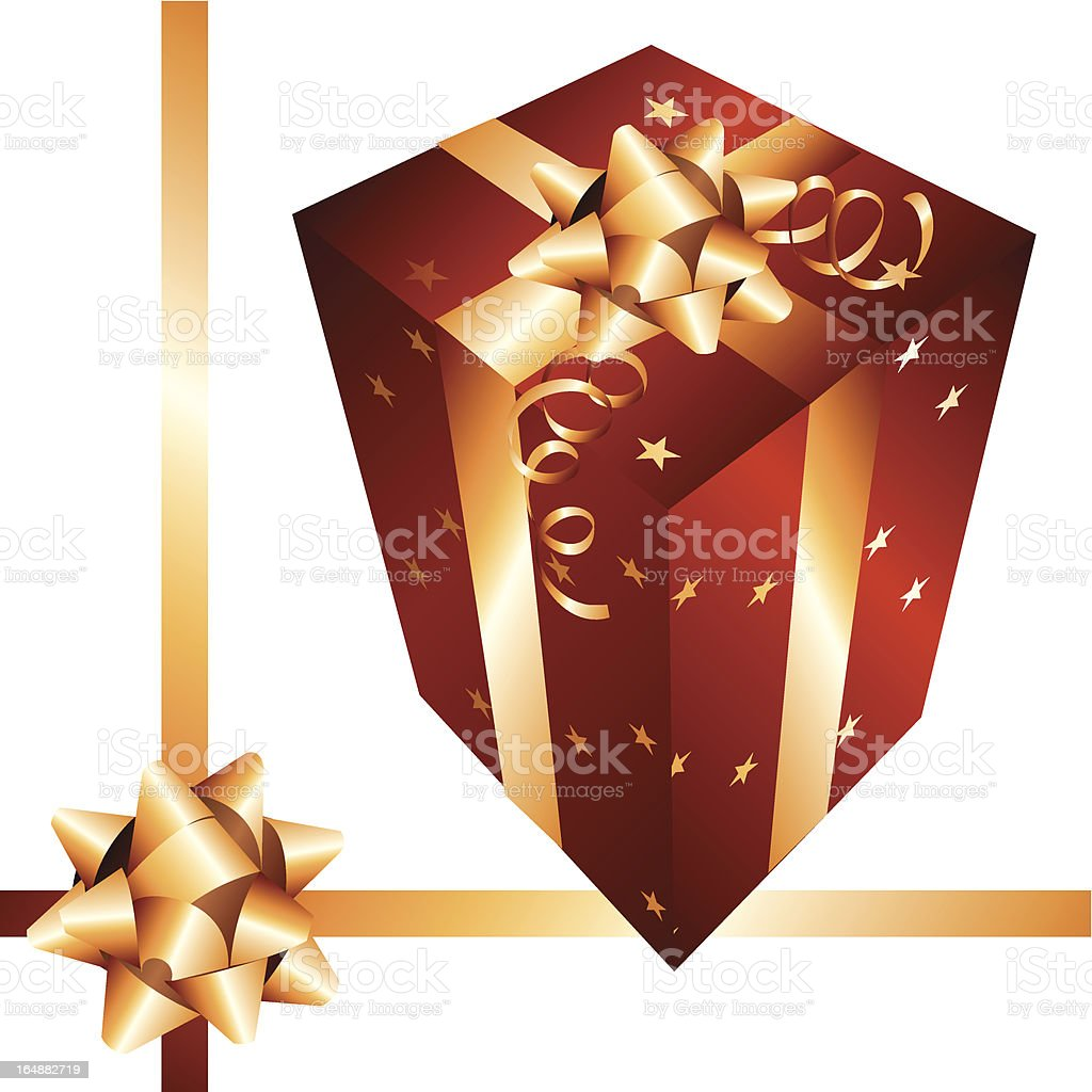 Red & Gold Gift royalty-free stock vector art