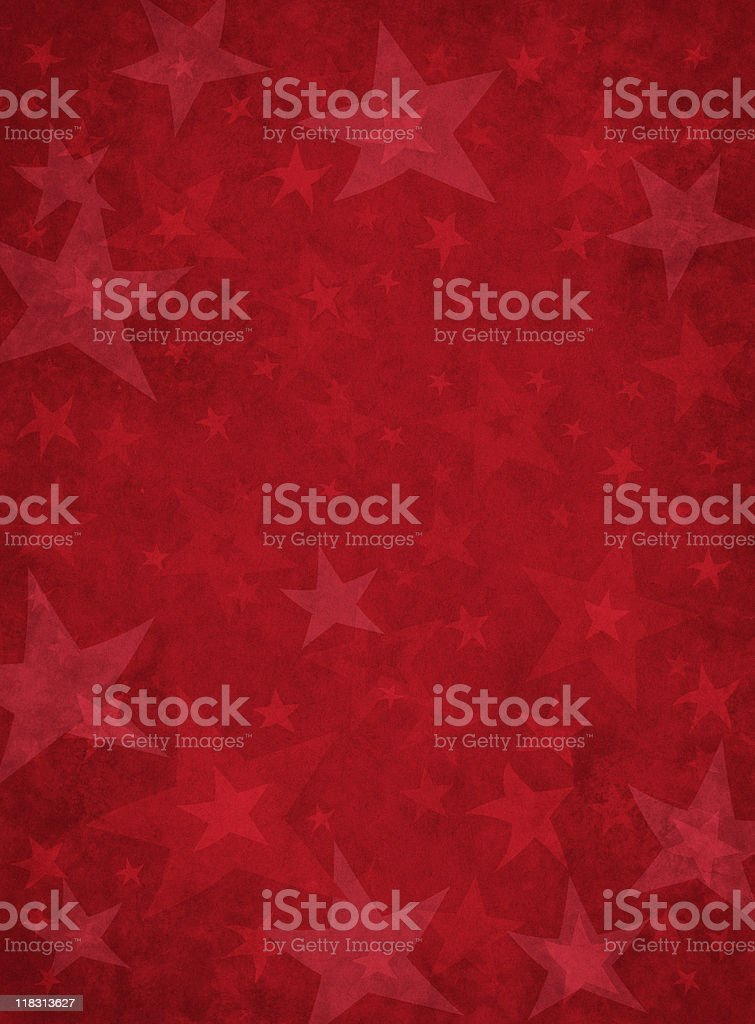 Red Grunge Stars royalty-free stock vector art