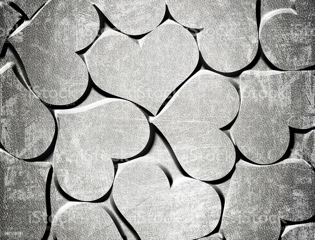 red hearts on a grunge background royalty-free stock vector art