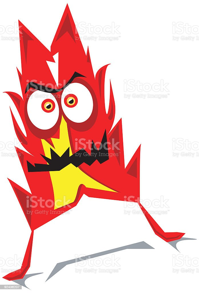 Red Hot Avatar royalty-free stock vector art