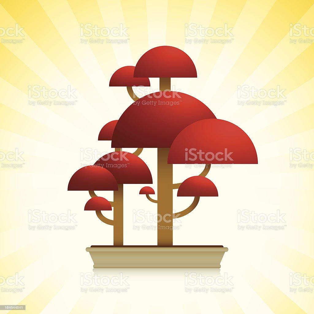 Red Maple ( Bloodgood ) Bonsai Tree royalty-free stock vector art