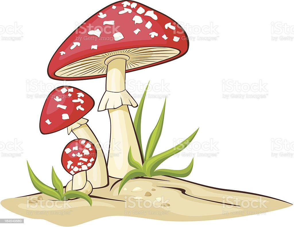 Red Mushrooms royalty-free stock vector art