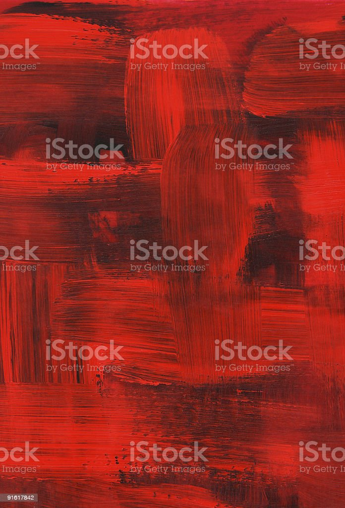 Red oil painting, brush strokes texture royalty-free stock vector art