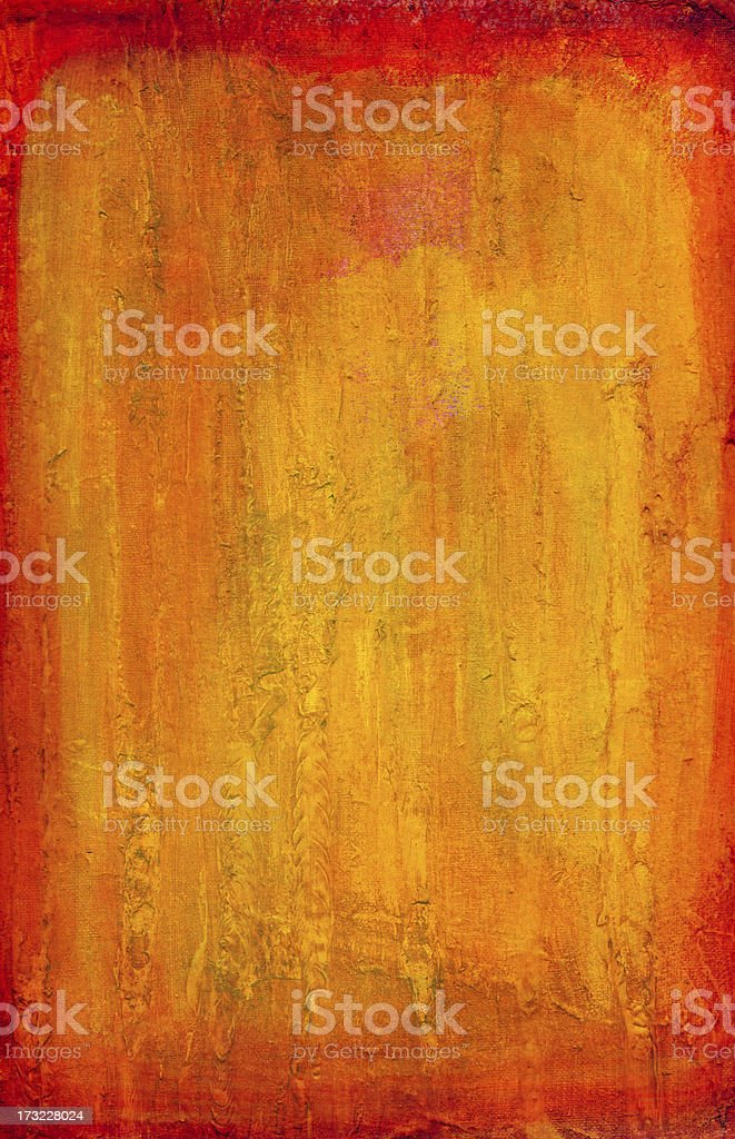 Red Orange Yellow Impasto Background vector art illustration