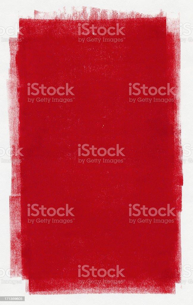 Red paint vector art illustration