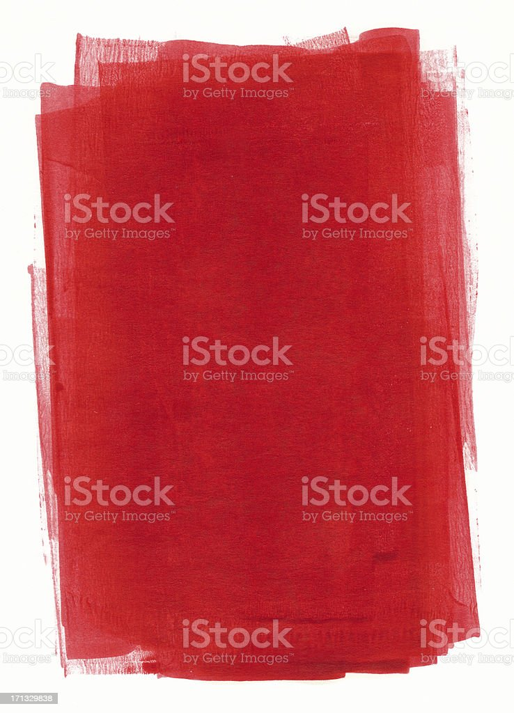 Red painted paper vector art illustration