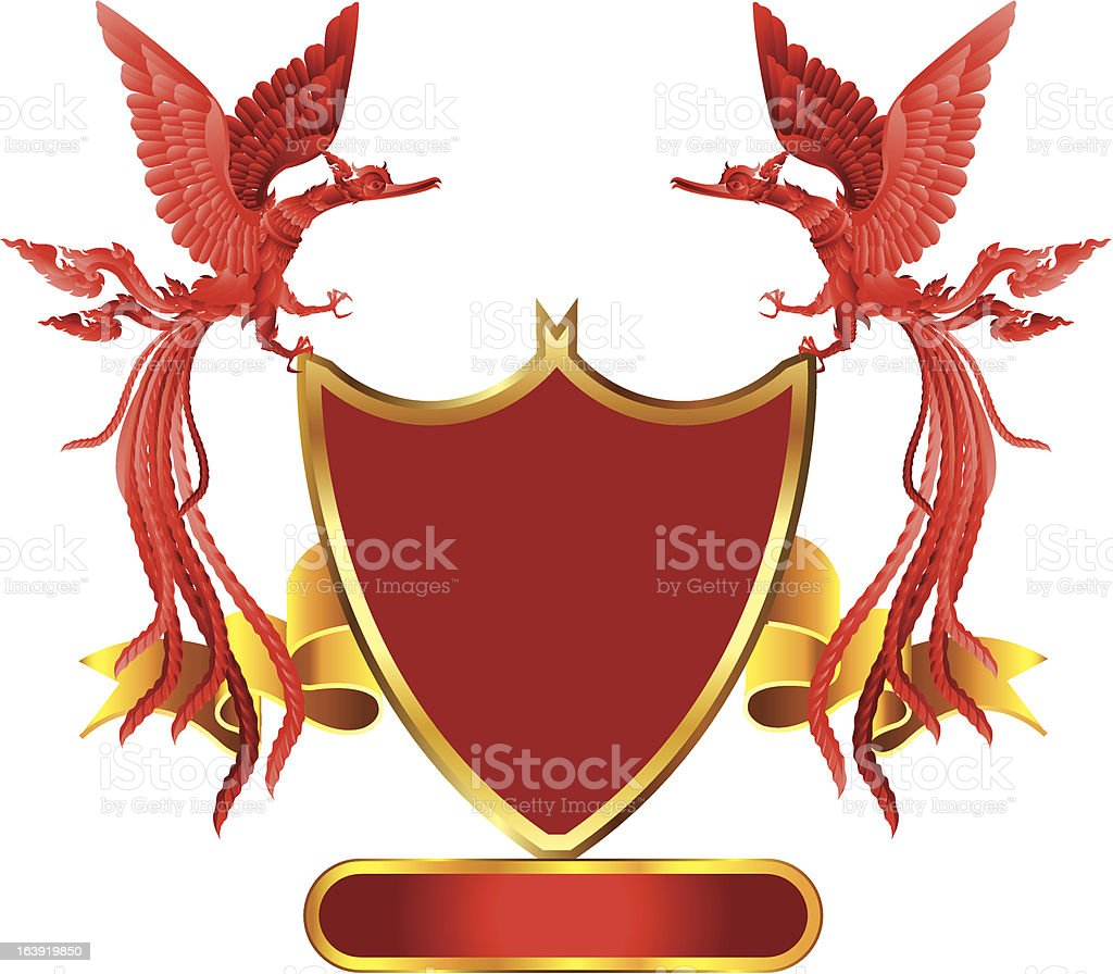 red phoenix royalty-free stock vector art