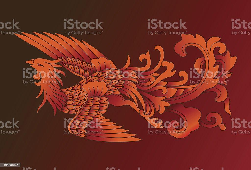 Red Phoenix royalty-free stock vector art