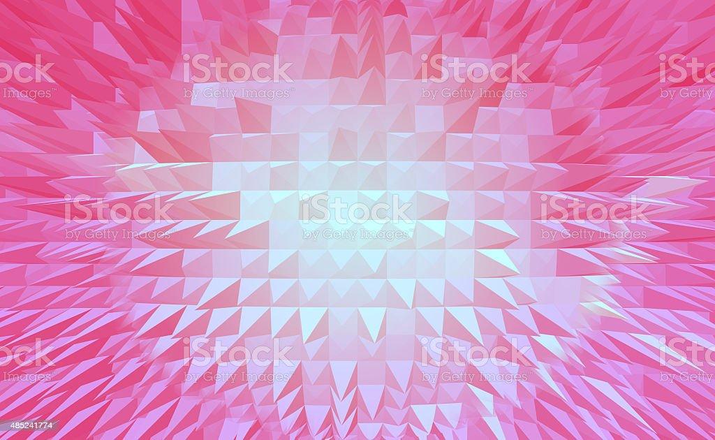 Czerwony Piramida digital tło abstrakcyjne stockowa ilustracja wektorowa royalty-free