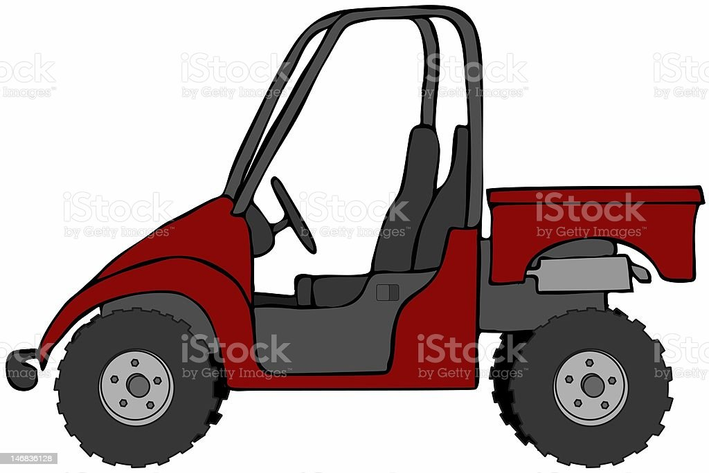 Red Recreation Vehicle vector art illustration