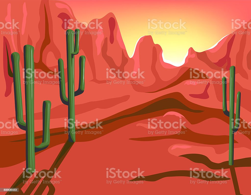 Red Rock royalty-free stock vector art