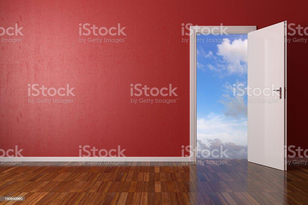 Red Room vector art illustration