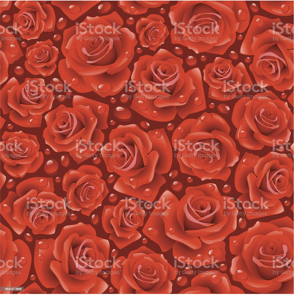 Red Rose seamless background royalty-free stock vector art