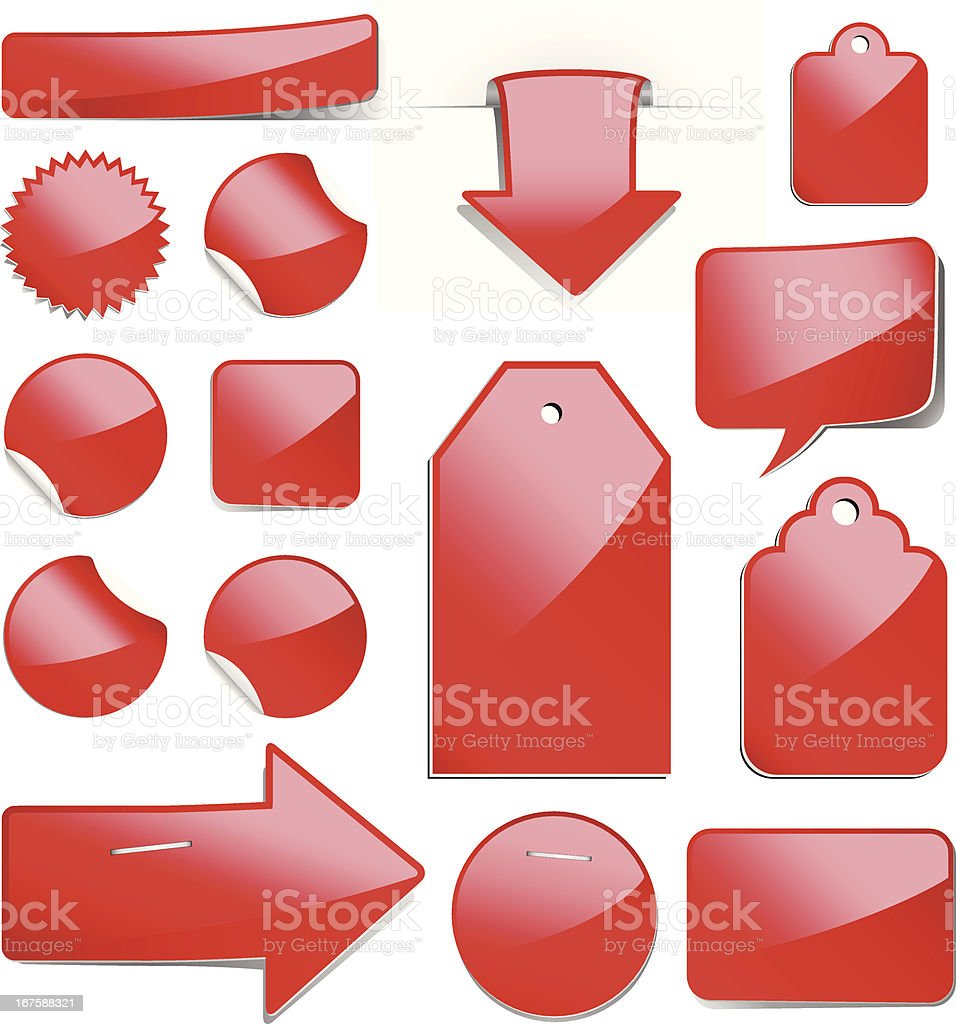 Red Sale Tags royalty-free stock vector art