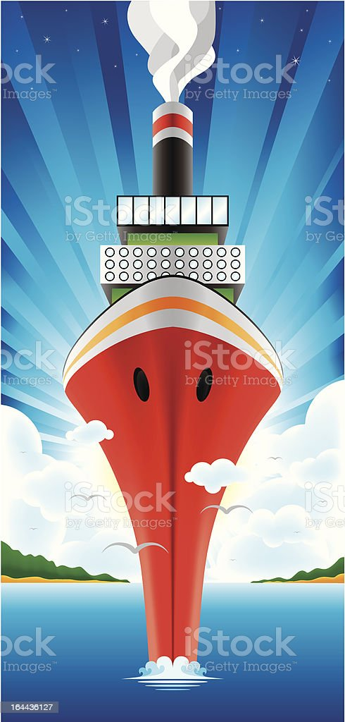 red ship royalty-free stock vector art