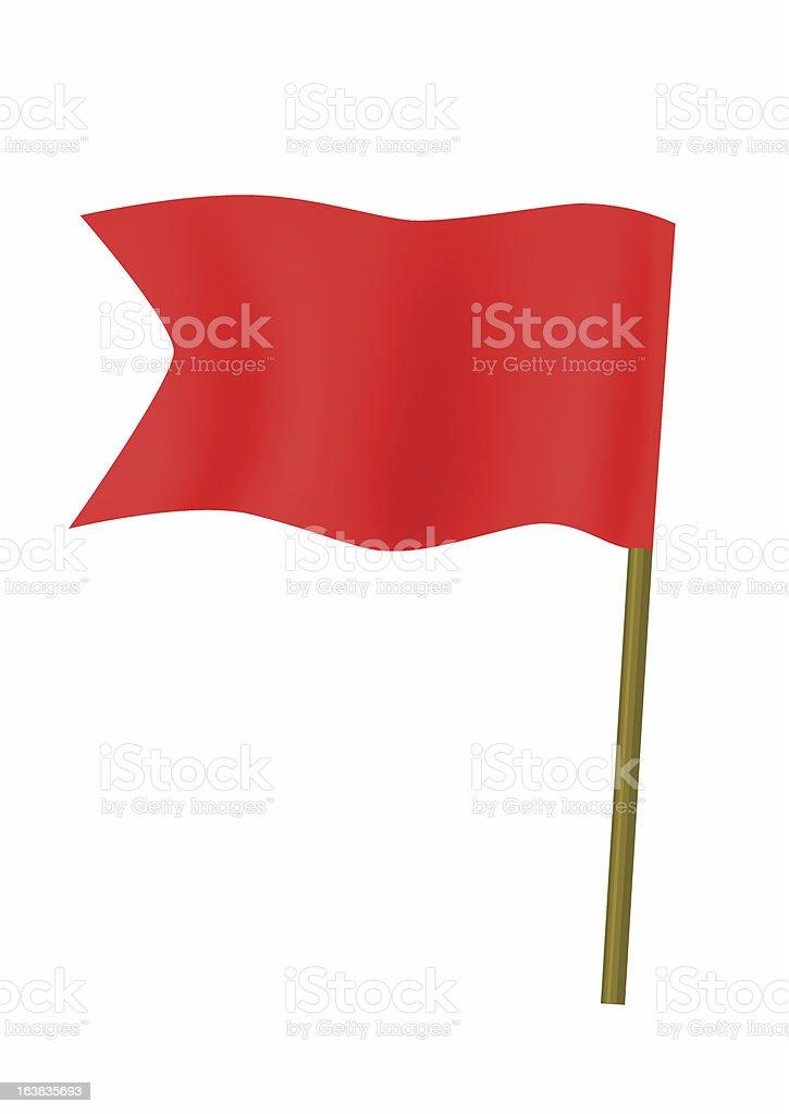 Red small flag vector art illustration