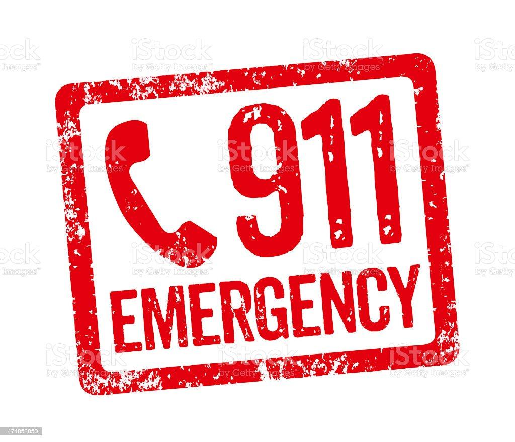 Red Stamp - Emergency vector art illustration