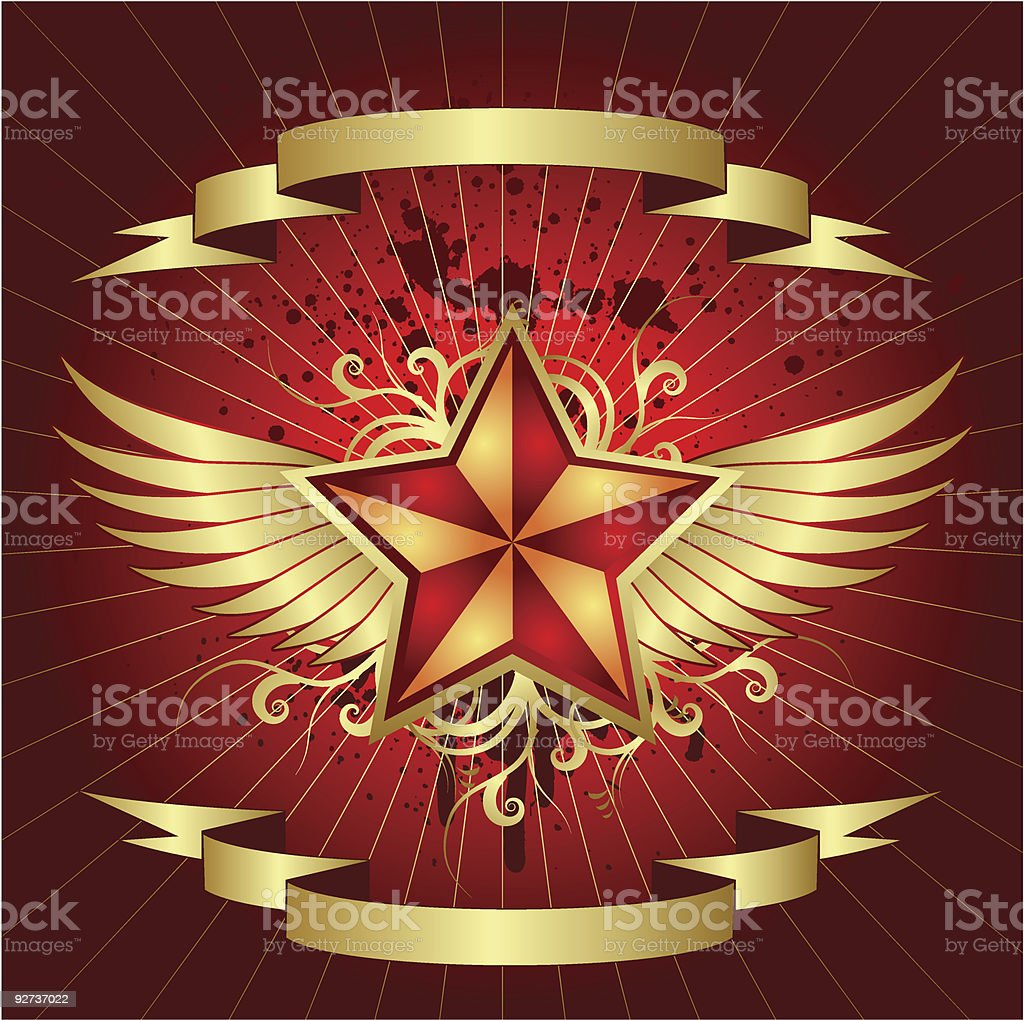 red star royalty-free stock vector art