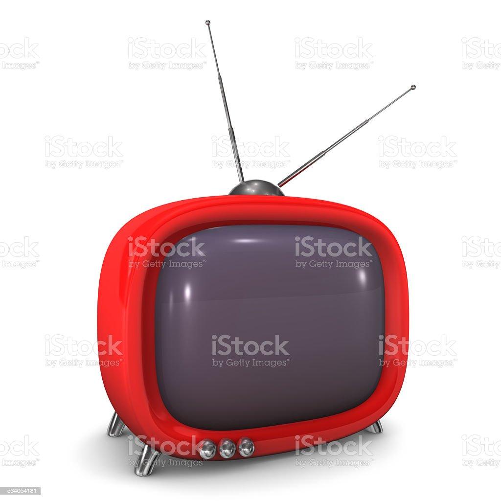 Red Sweet TV vector art illustration