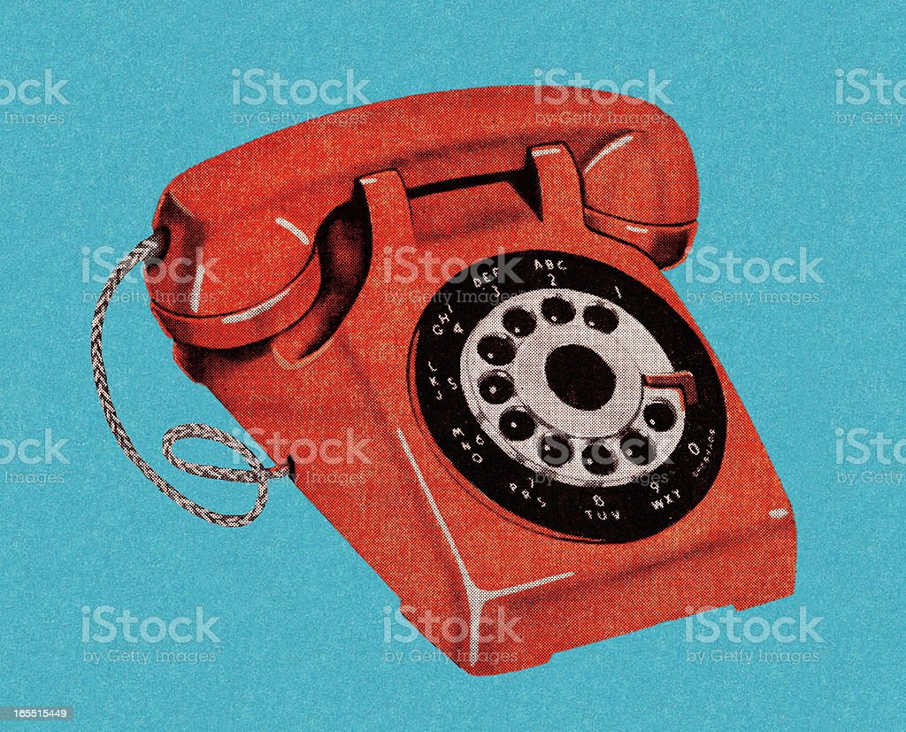 Red Telephone royalty-free stock vector art