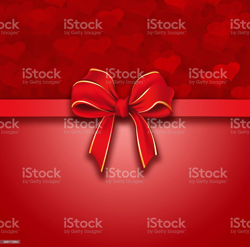 Red valentines heart background vector art illustration