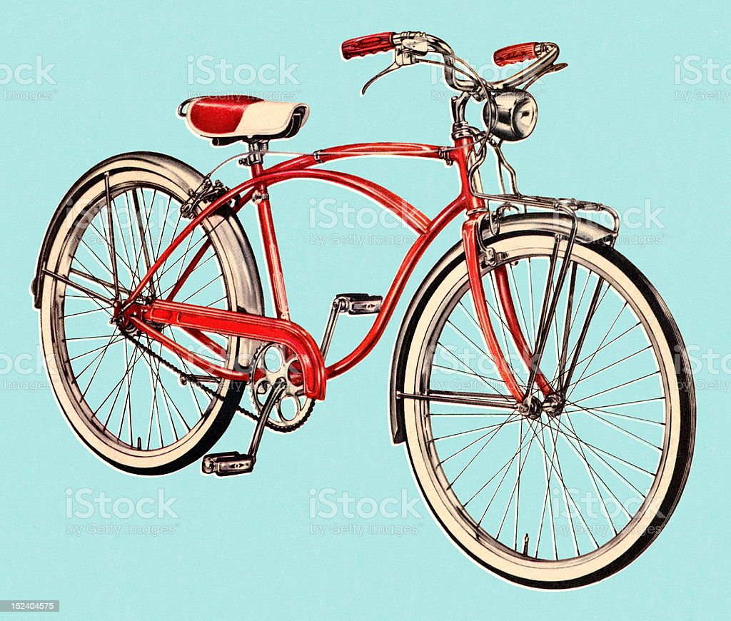 Red Vintage Bicycle royalty-free stock vector art
