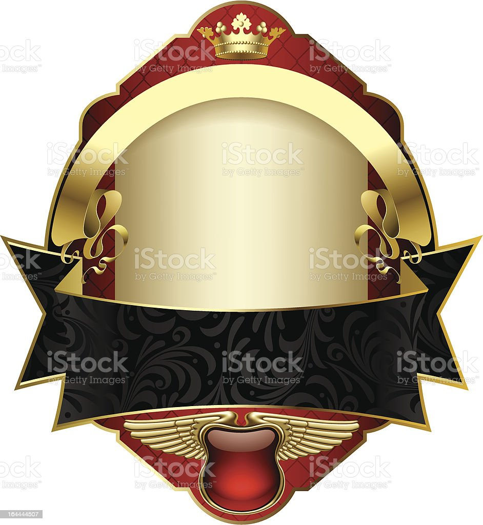 Red vintage label royalty-free stock vector art