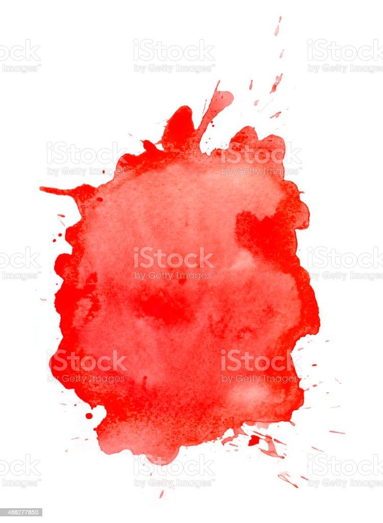 Red  watercolor splatter vector art illustration
