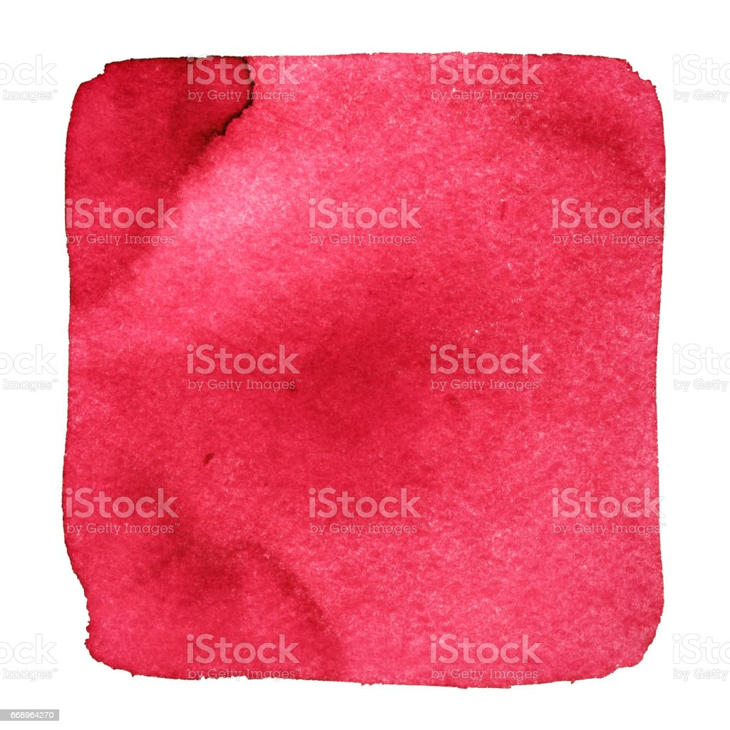 Red wry watercolor square stock photo