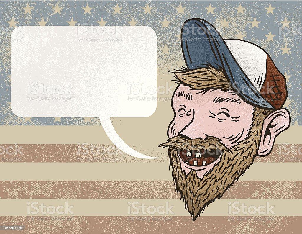 Redneck Talkin' vector art illustration