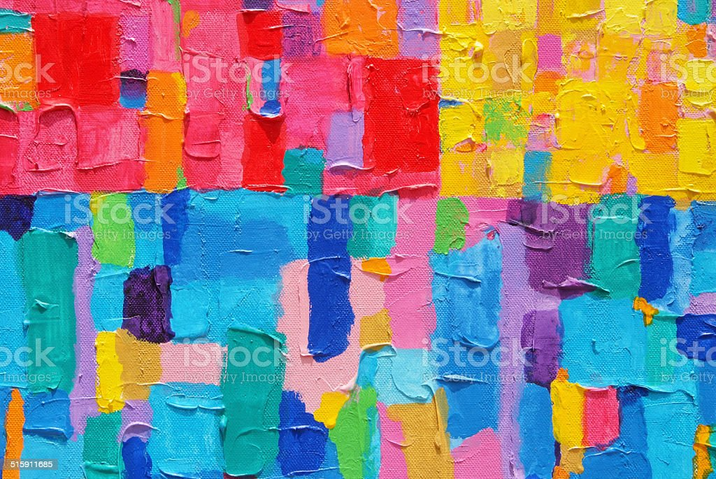 Red,Yellow & Blue Painting vector art illustration