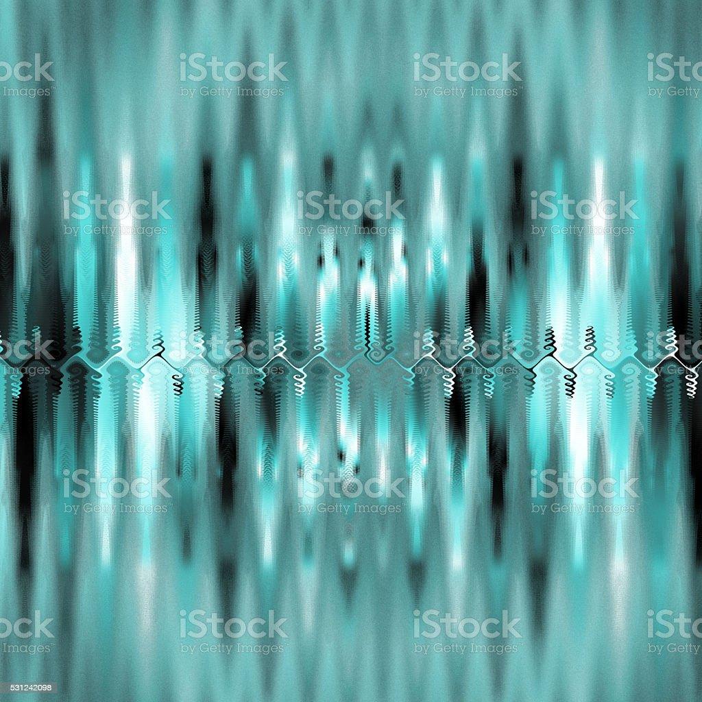 Reflected stalagmites in magical underground cave fractal image vector art illustration