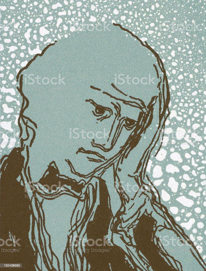Reflecting Man royalty-free stock vector art