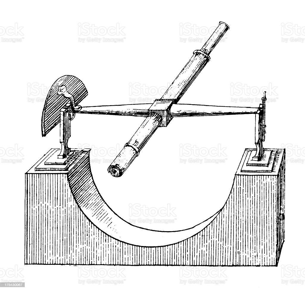 Refracting Telescope | Antique Scientific Laboratory Equipment Illustrations royalty-free stock vector art