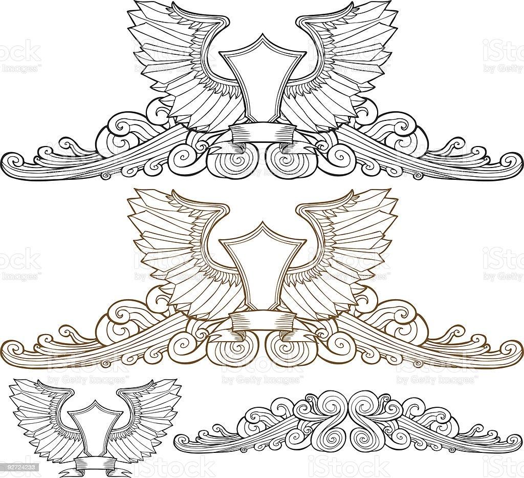 Regal Elements Set royalty-free stock vector art