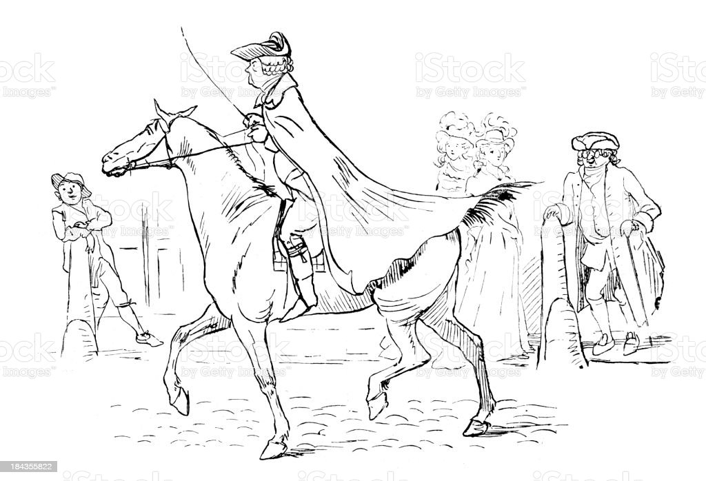 Regency Gentleman vector art illustration