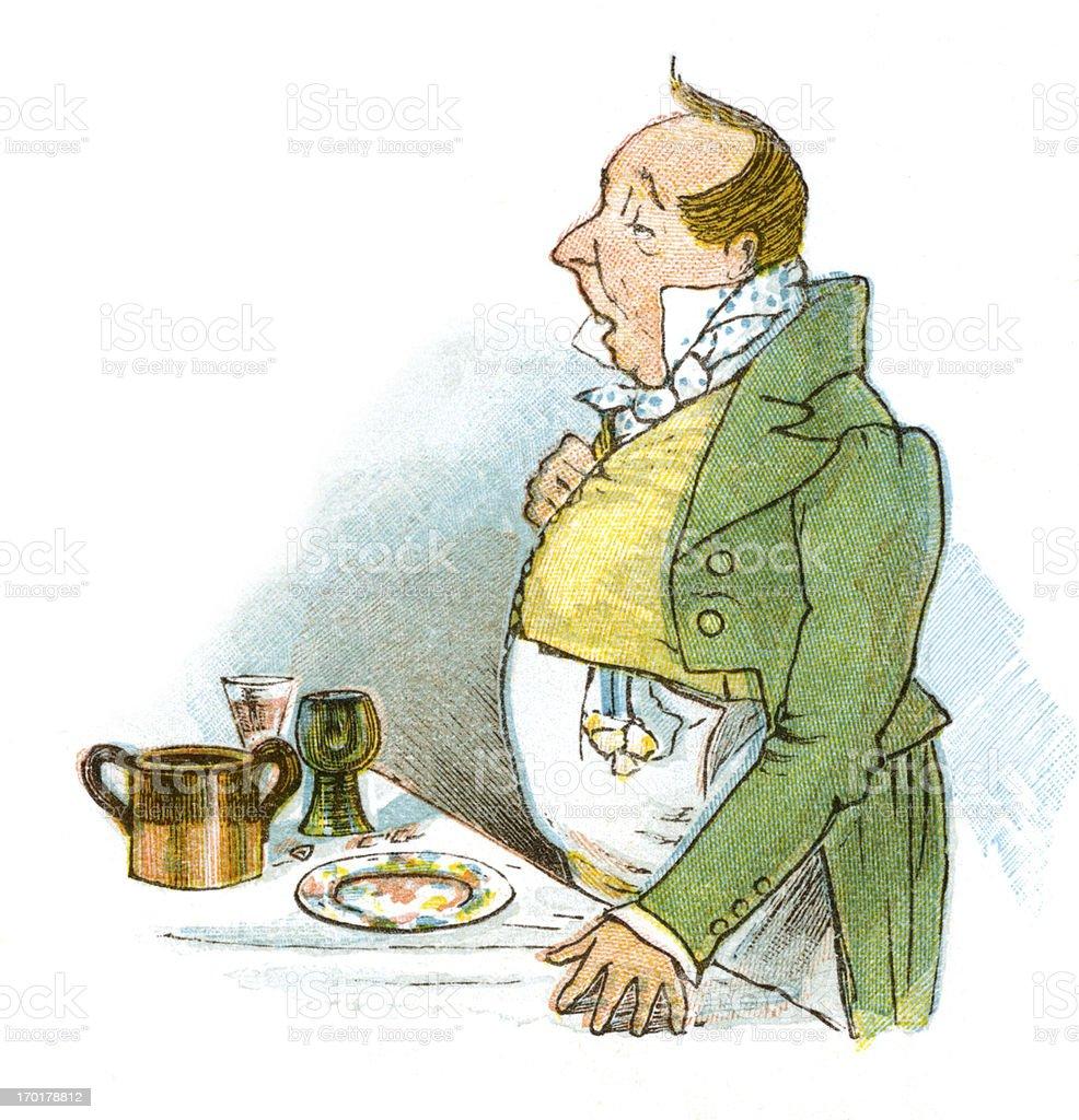 Regency period man making a speech vector art illustration