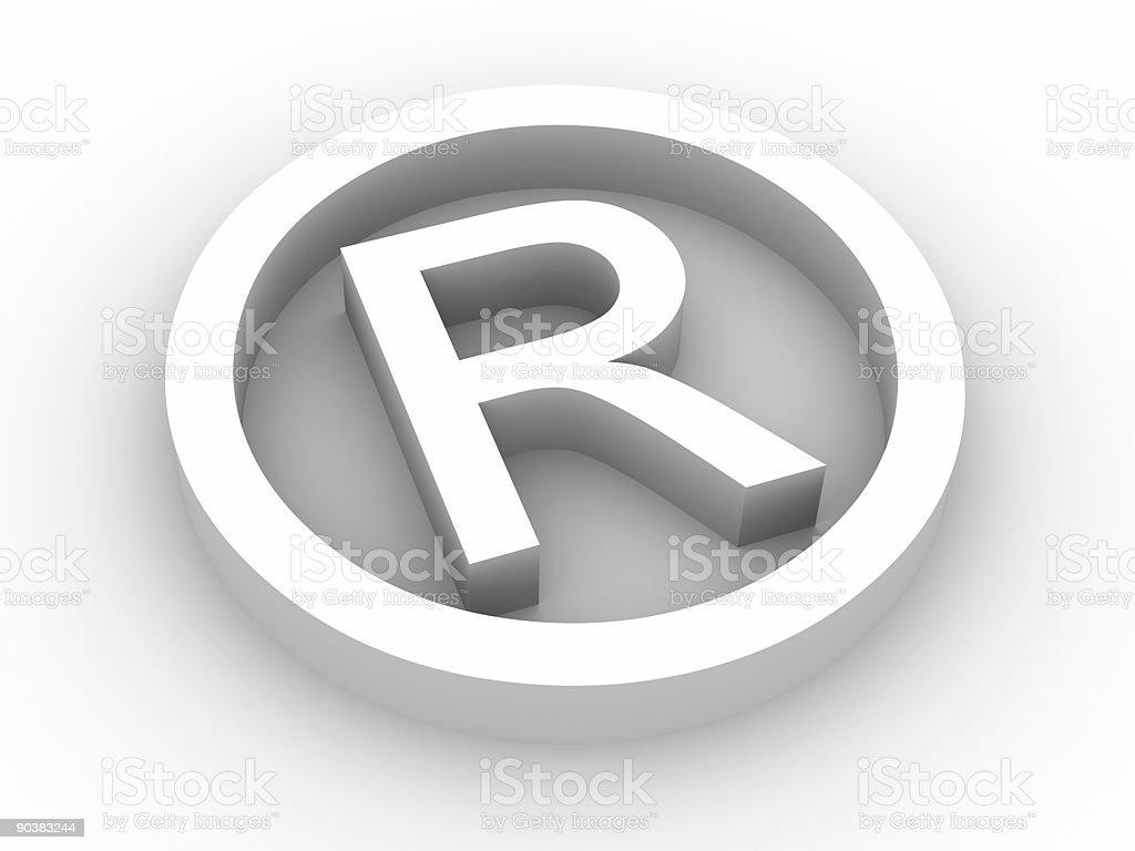 Registered symbol royalty-free stock vector art