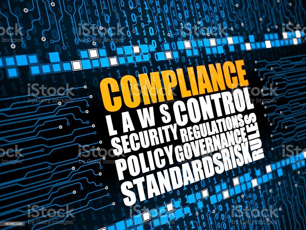 Regulatory Compliance vector art illustration
