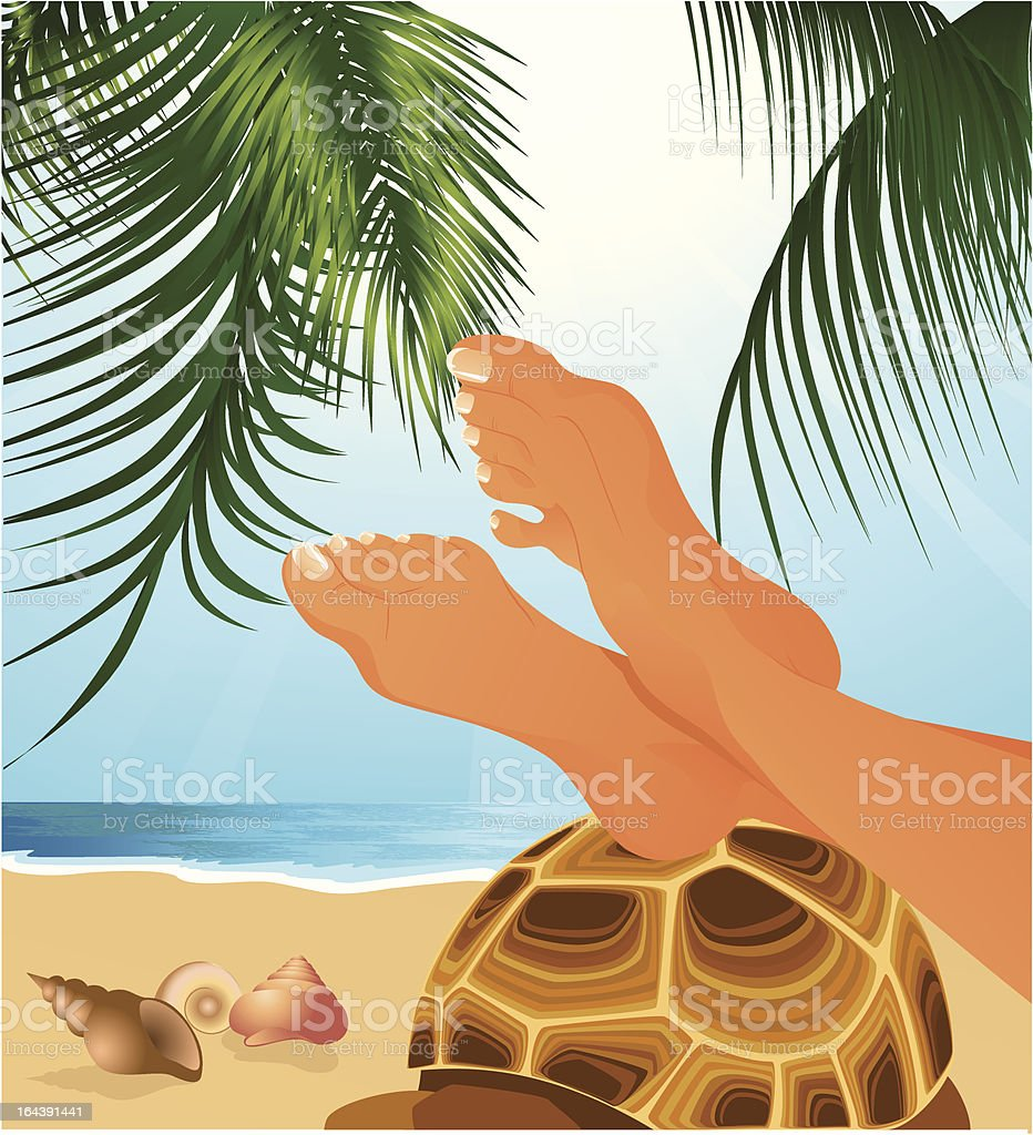 Relax on the beach royalty-free stock vector art