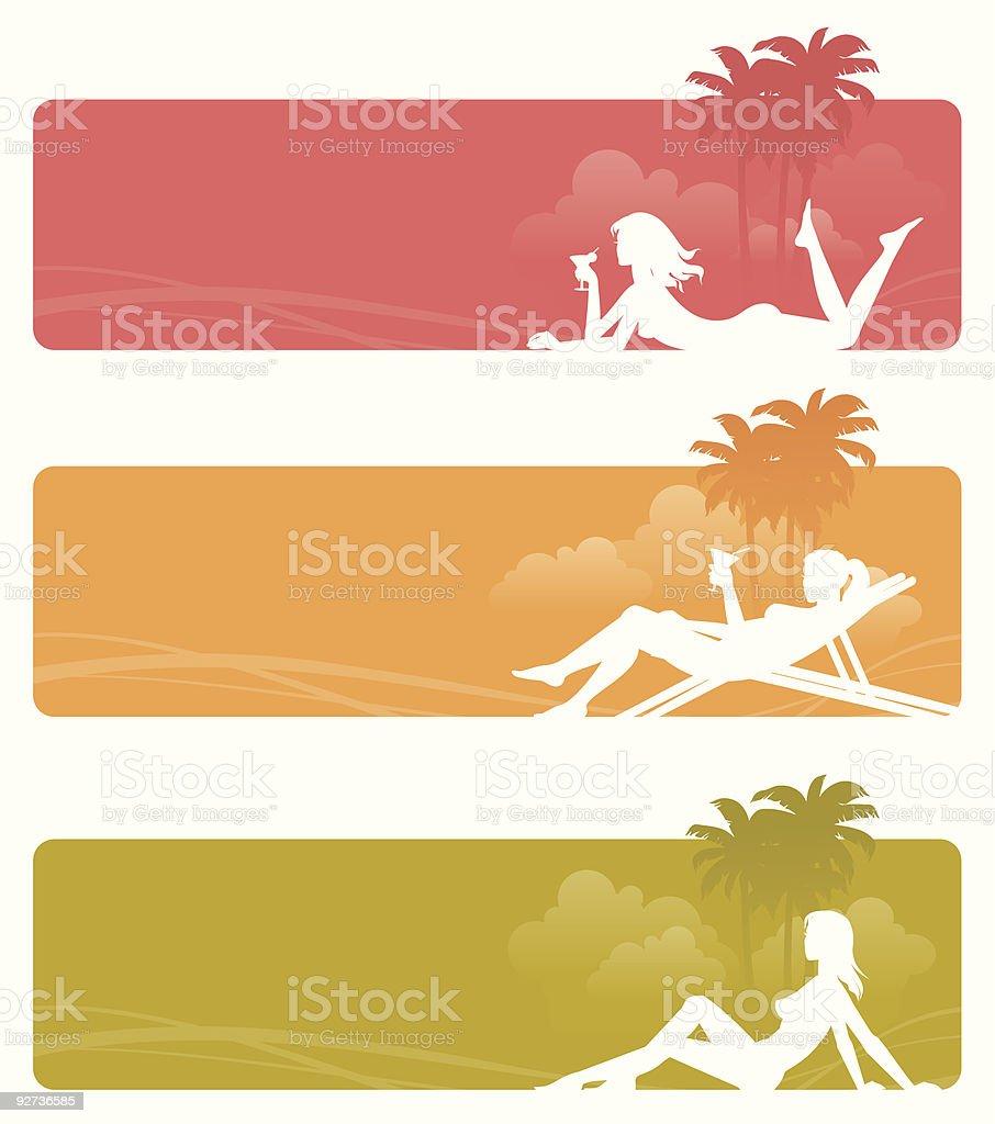 Relaxing girls royalty-free stock vector art