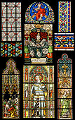 Religion motives on Stained Glass