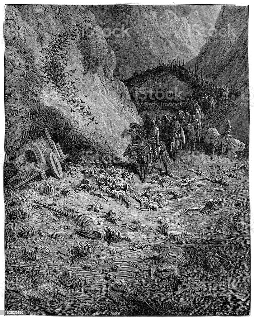 Remains of the Peasants' Crusade royalty-free stock vector art