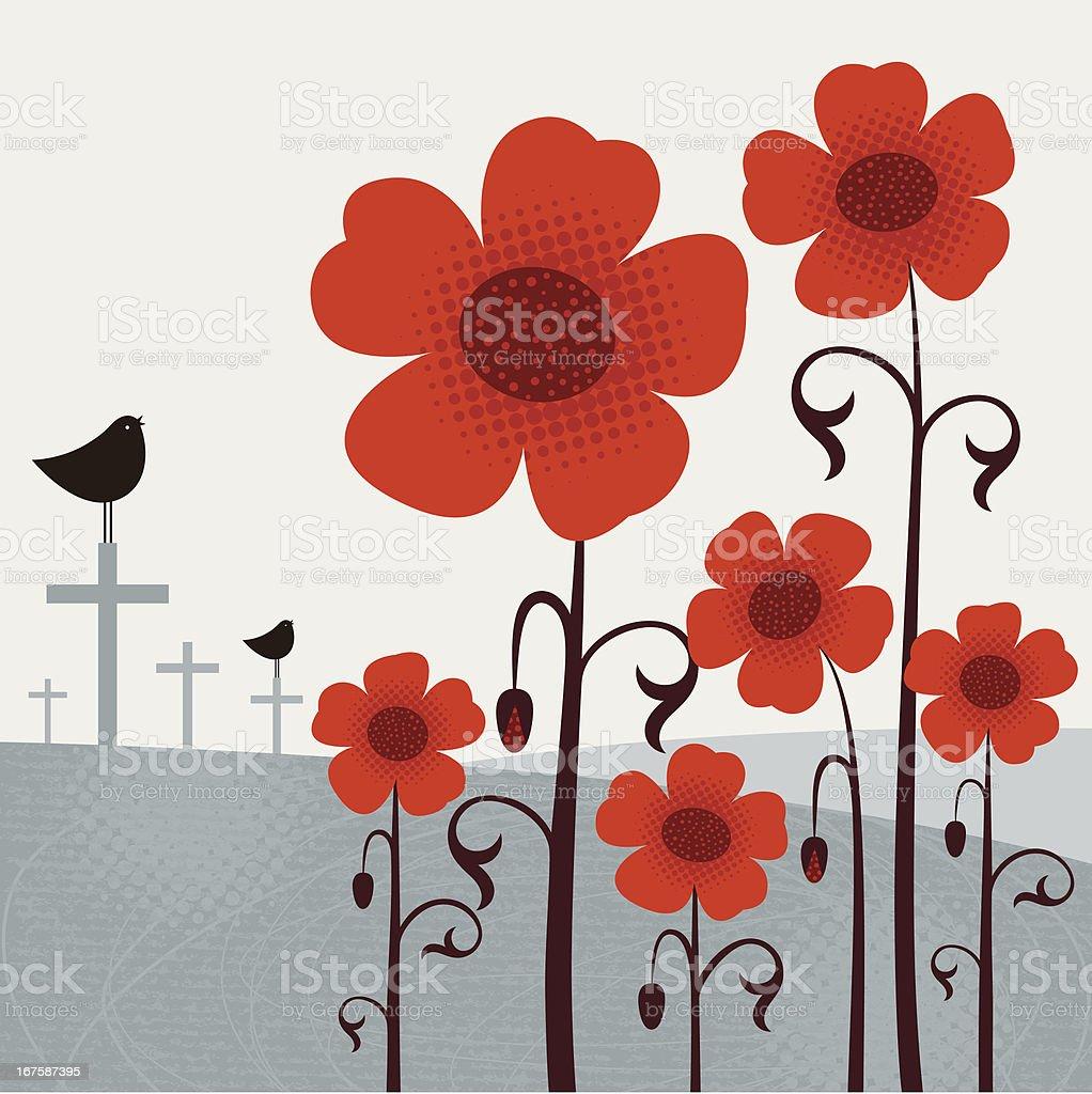 Remembrance Day vector art illustration