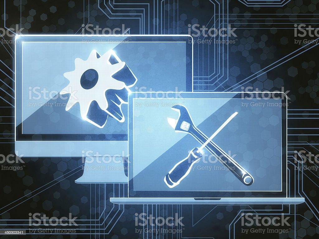 Remote Desktop royalty-free stock vector art